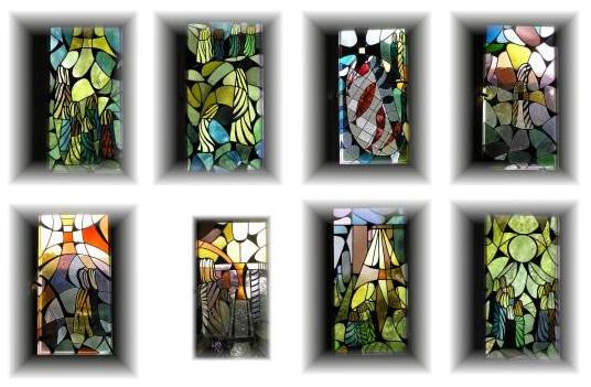 Meinaß frühe Werke - 8 Kirchenfenster